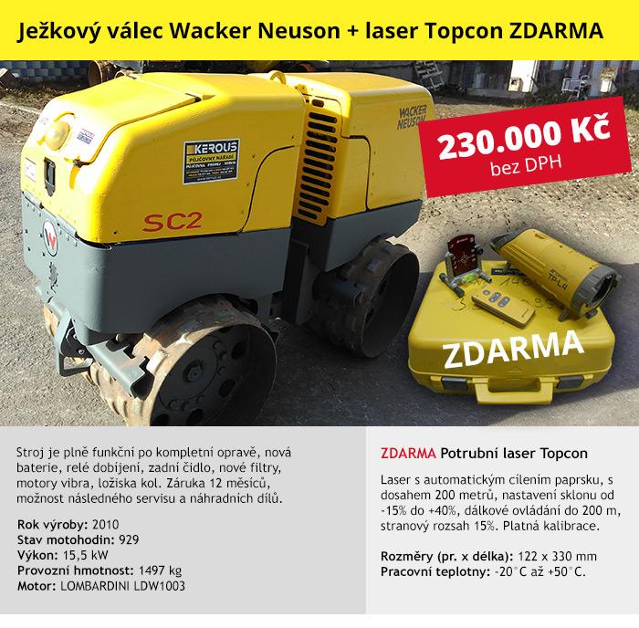 Ježkový válec kloubový Wacker Neuson RT 82 - SC 2 (JV52)