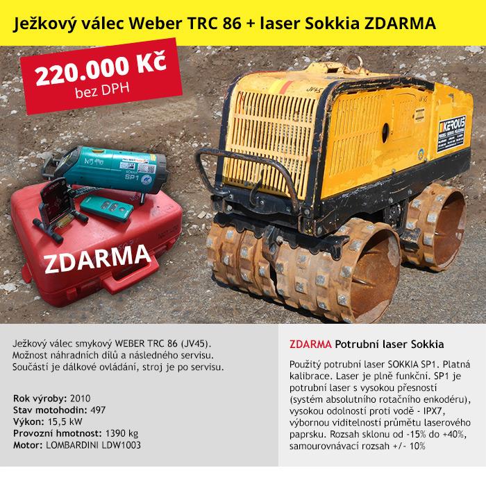 Ježkový válec smykový WEBER TRC 86 (JV45)