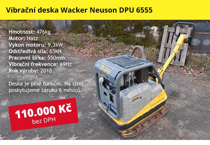 Vibrační deska Wacker Neuson DPU 6555